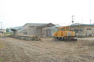 架線も留置車両も線路も全て取り払われてしまった久慈浜駅