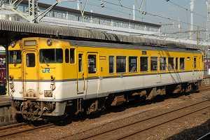 岩徳線のキハ40(更新工事済)を徳山駅で