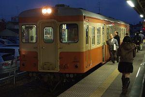 久々に会えた茨城交通キハ205(国鉄色)。