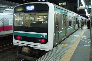 いつの間にか、主のようなでかい顔をして水戸勝田界隈を闊歩しているE501系(3/29)