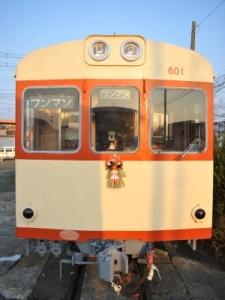 キハ601に正月飾りと鏡餅(12/30)